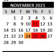 Veterans' Day - School Closed, November 11, 2021